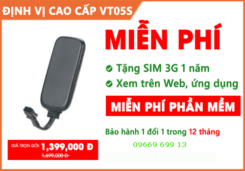 lap dinh vi o to vt05s gia re